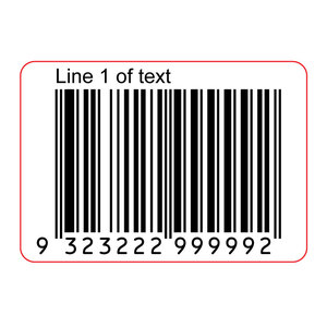 40x28mm EAN13 GS1 Permanent Product Barcode Label
