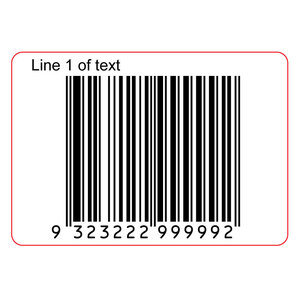 45x35mm EAN13 GS1 Permanent Product Barcode Label