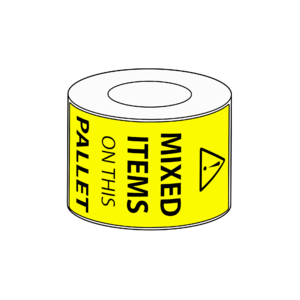 80x149mm Mixed Items on Pallet Label, 500 per roll, 76mm core