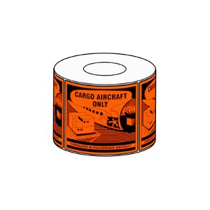 111x126mm Cargo Aircraft Only Label, 500 per roll, 76mm core